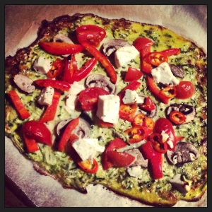 The world's healthiest pizza for Sunday night.