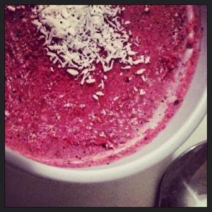 Coco-Raspberry Icecream